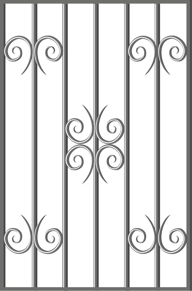 Эскиз решетки на окно