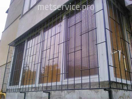 Решётки на окна с отступом