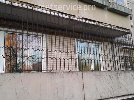 Длинные решётки на балкон
