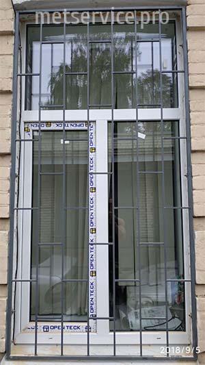Прямая решётка на окно